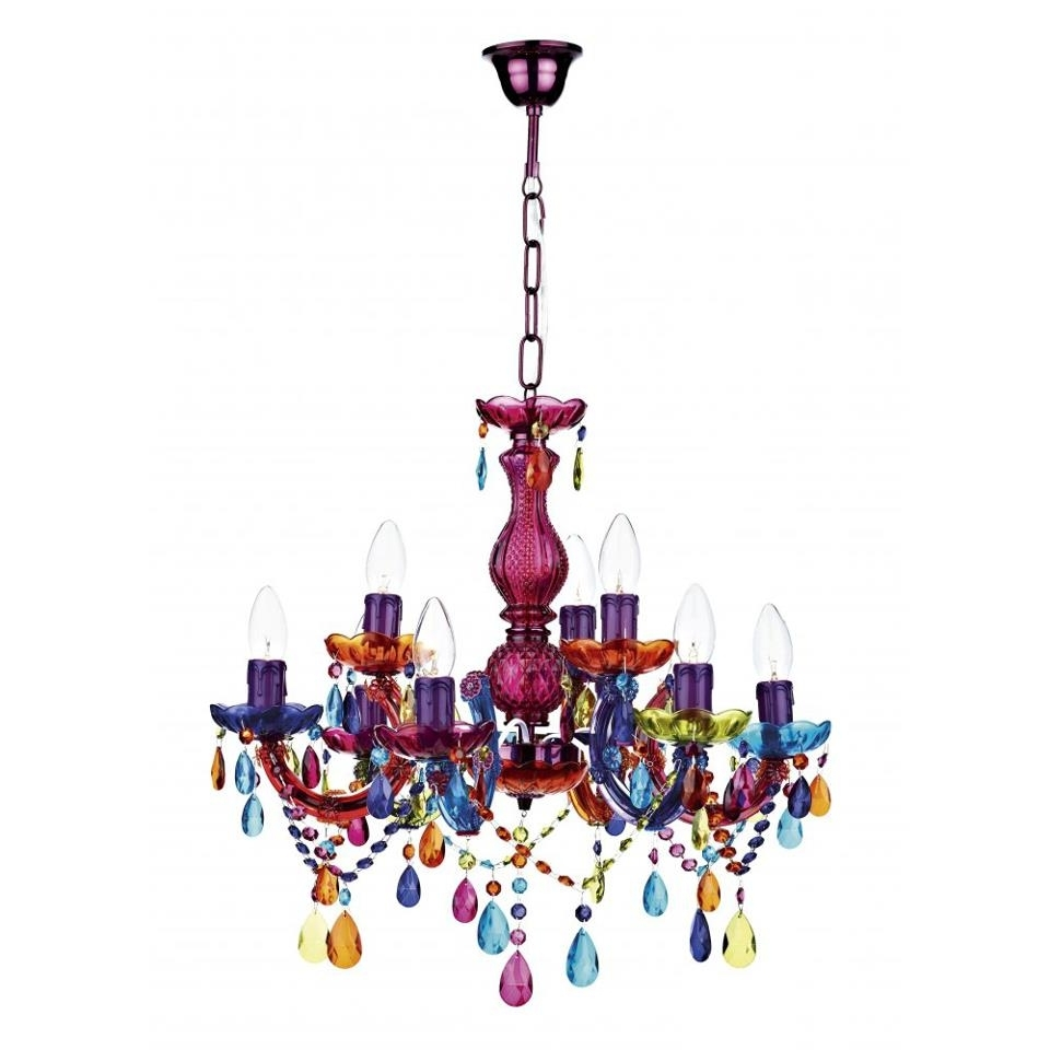 Most Recently Released Chandeliers Design : Marvelous Lighting Colorful Chandeliers Light For Coloured Glass Chandelier (View 13 of 20)