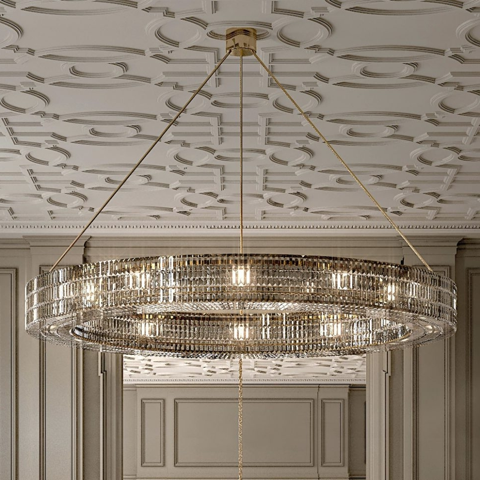 Most Recently Released Chandeliers Design : Wonderful Clarissa Crystal Drop Round Intended For Contemporary Large Chandeliers (View 13 of 20)