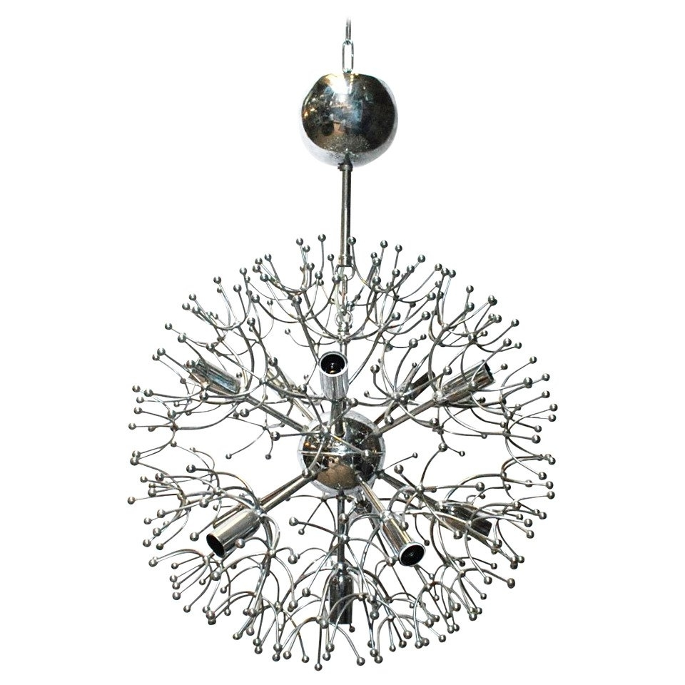 Most Recently Released Chrome Sputnik Chandeliers Within Sciolari Chrome Sputnik Chandelier For Sale At 1Stdibs (View 14 of 20)