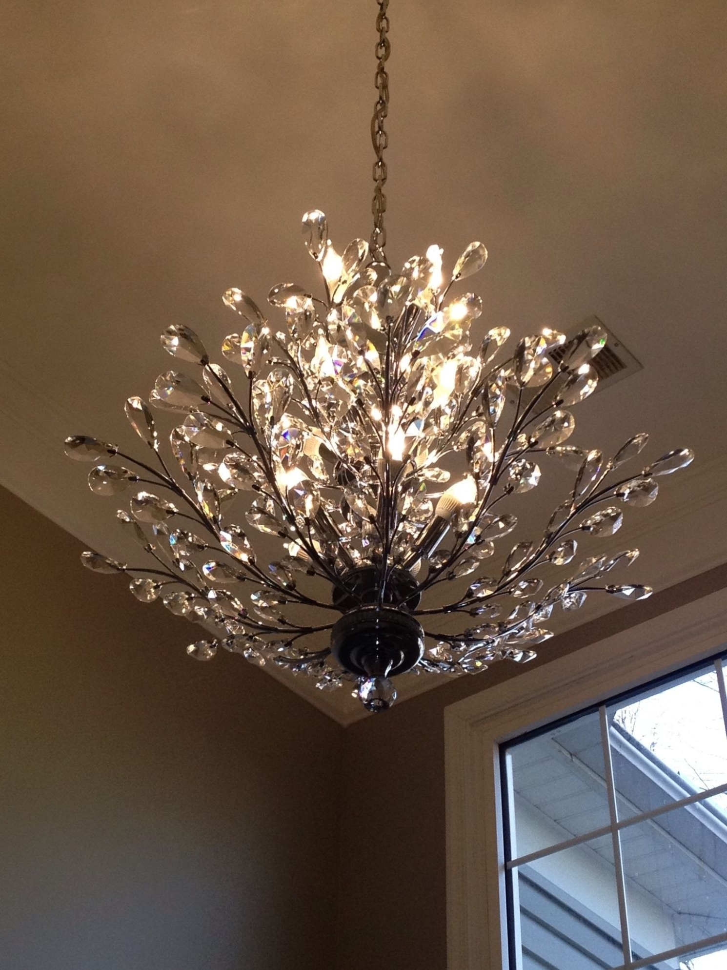 Most Recently Released Crystal Branch Chandelier Within Chandeliers : Branches Chandelier Fresh Crystal Branch Chandelier (View 15 of 20)