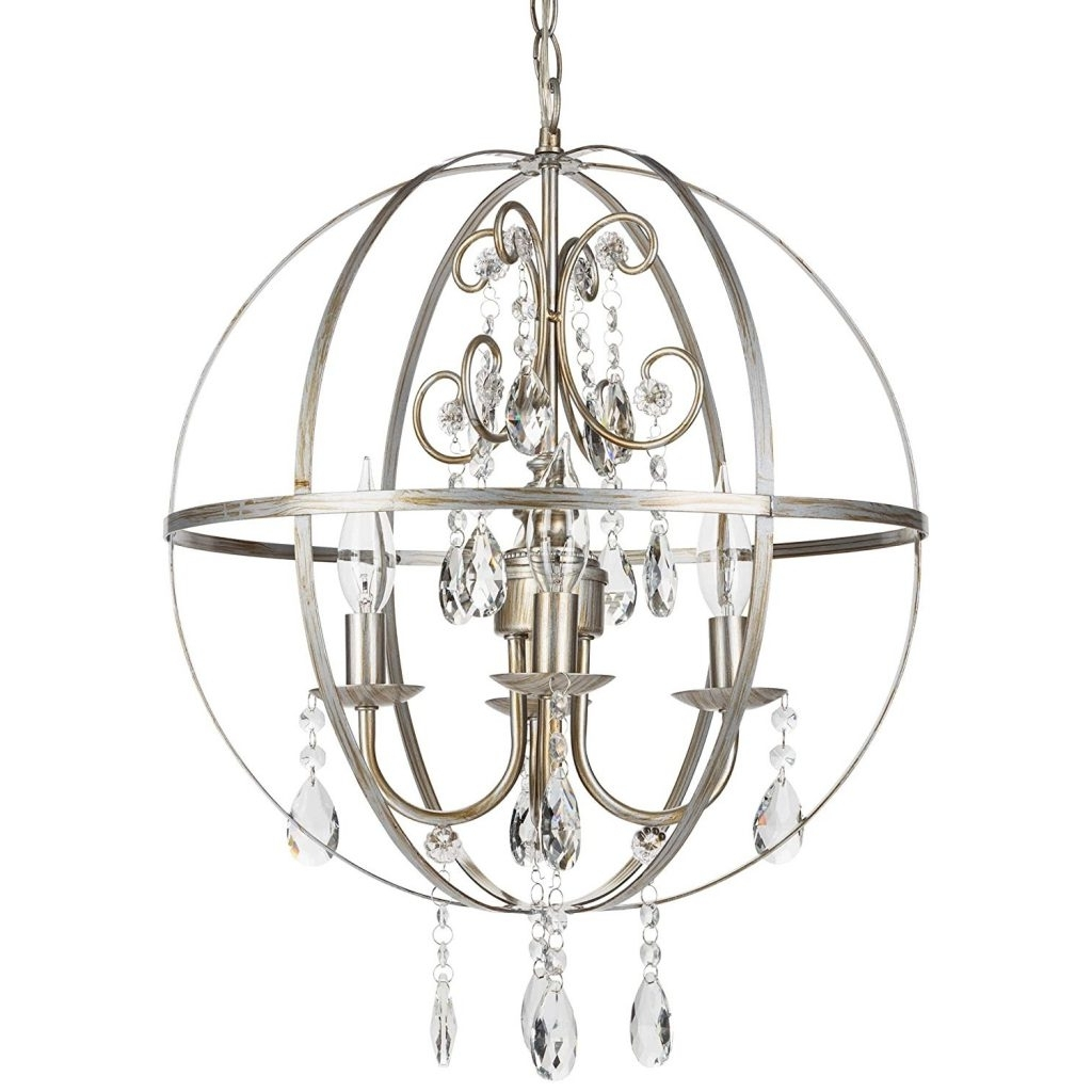 Most Recently Released Crystal Orb Chandelier, Sphere & Globed Shaped Chandeliers For Metal Sphere Chandelier (View 11 of 20)