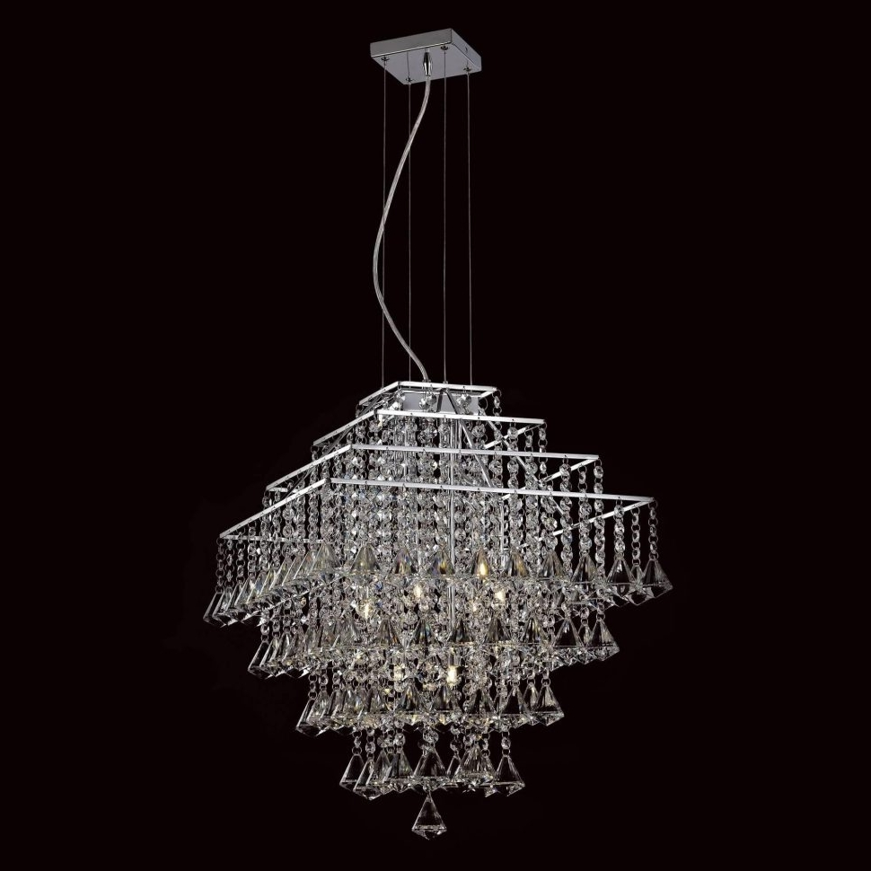 Most Recently Released Crystal Waterfall Chandelier Within Chandeliers : Waterfall Crystal Chandelier Cascading Strauss (View 13 of 20)