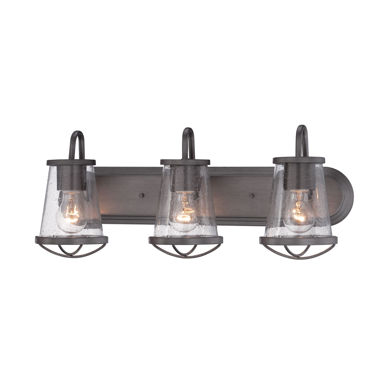 Most Recently Released Fountain Darby Weathered Iron Three Light Bath Bar On Sale Intended For Bathroom Lighting With Matching Chandeliers (View 14 of 20)