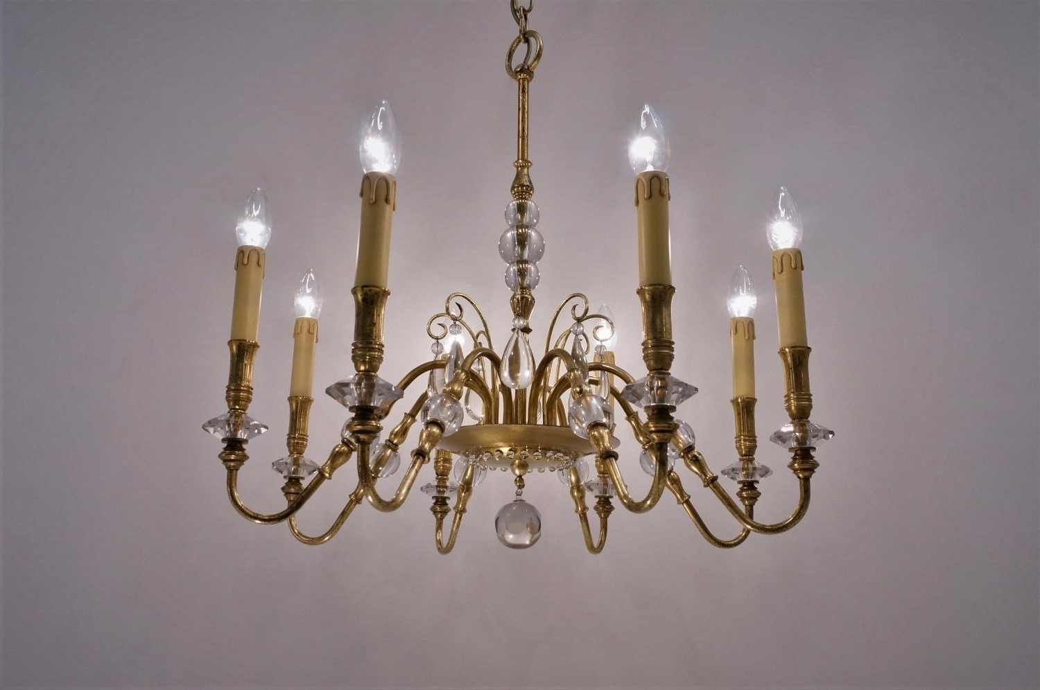 Most Recently Released French Chandelier, 1940S For Sale At Pamono With Regard To French Chandelier (View 14 of 20)