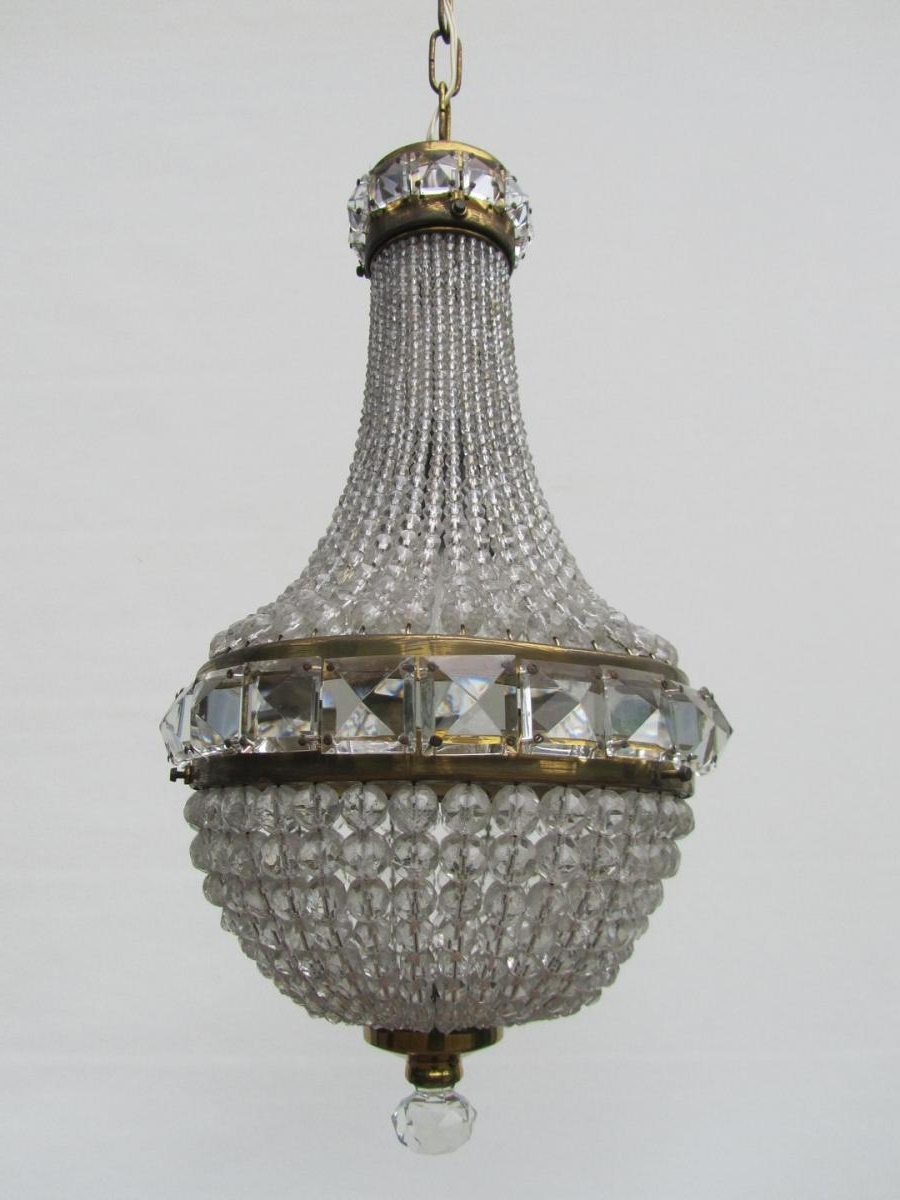 Most Recently Released French Chandelier For French Crystal Beaded Basket Chandelier For Sale At Pamono (View 11 of 20)