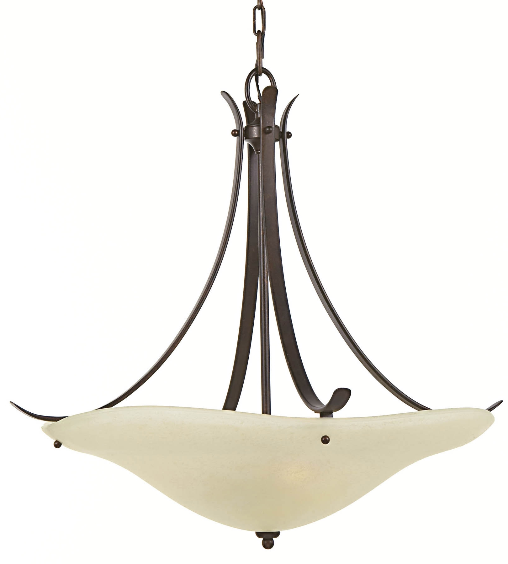 Most Recently Released Inverted Pendant Chandeliers With Feiss F2046/3Gbz Morningside Inverted Pendant Hanging Lamp (View 13 of 20)