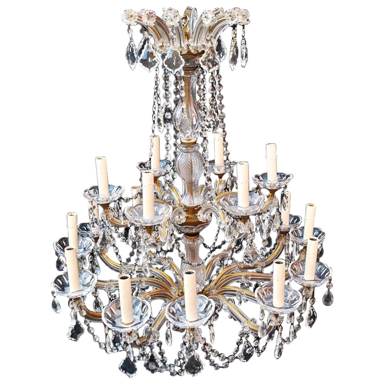 Most Recently Released Large Crystal Chandeliers For Large Crystal Chandelier Maria Theresa Style For Sale At 1stdibs (View 20 of 20)