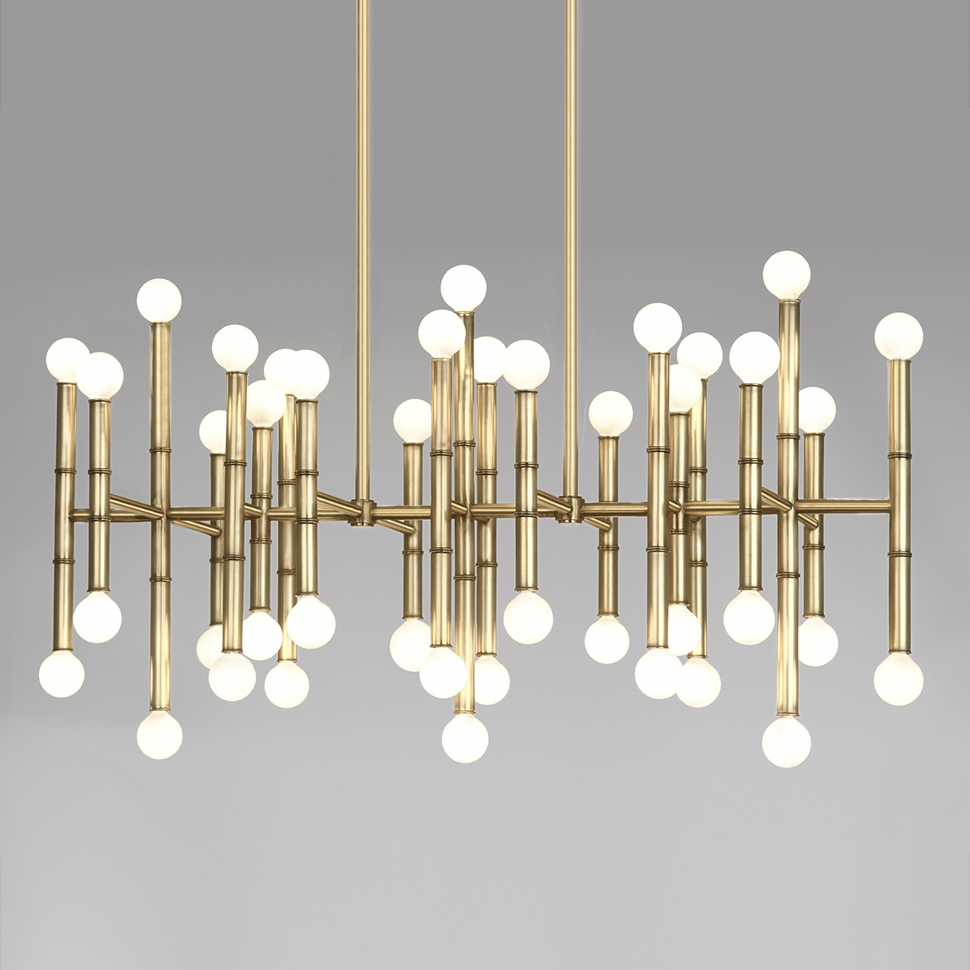 Most Recently Released Modern Chandelier Pertaining To Meurice Rectangle Brass Chandelier (View 12 of 20)