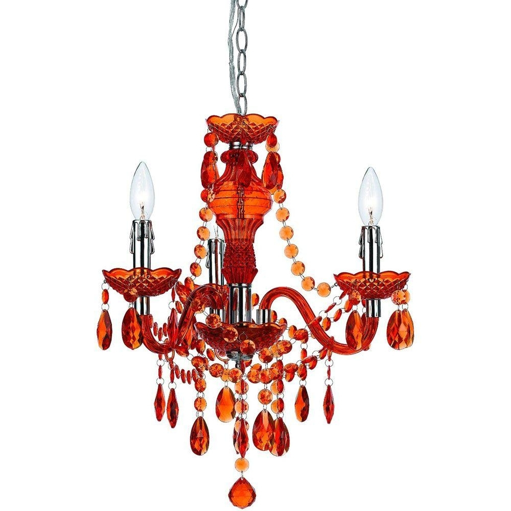 Most Recently Released Red Chandeliers Inside Af Lighting Fulton 3 Light Orange Mini Chandelier 8500 3h – The Home (View 4 of 20)