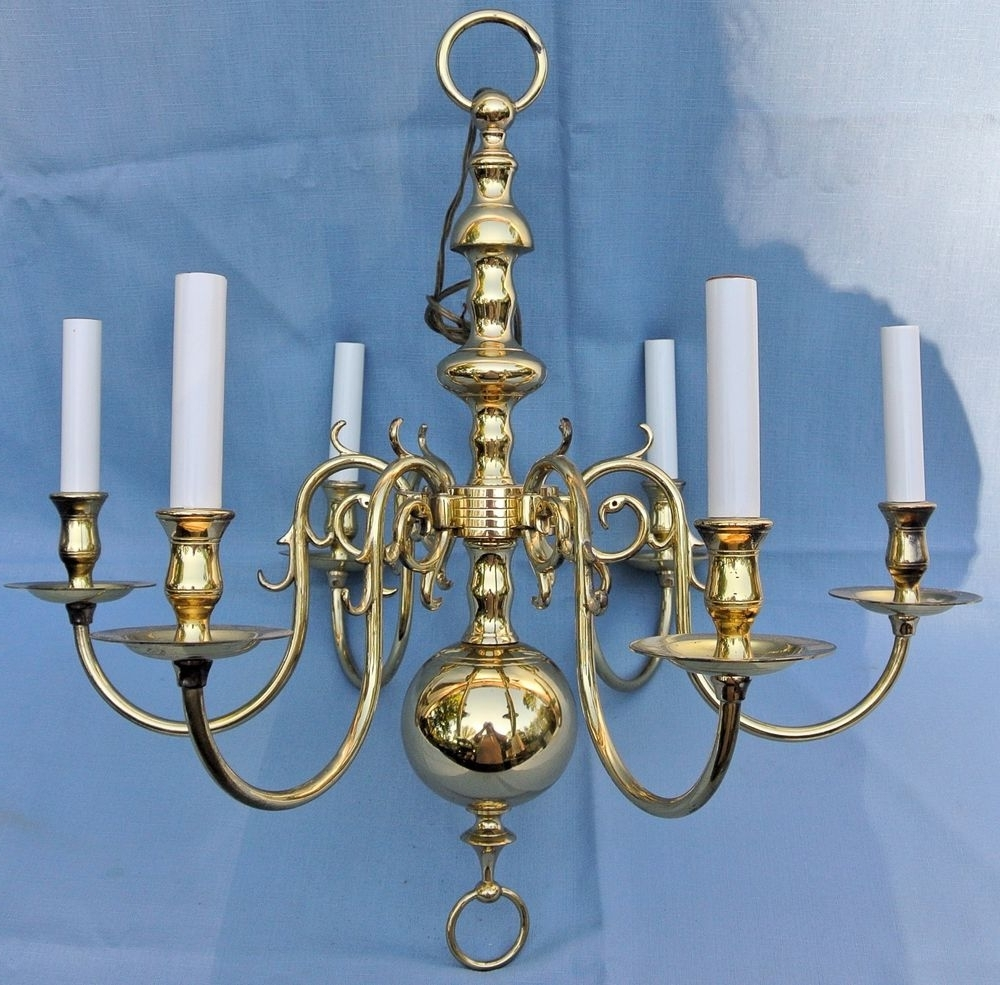 Most Recently Released Weiss & Biheller Chandelier Georgian Colonial Williamsburg Cast For Brass Chandeliers (View 18 of 20)