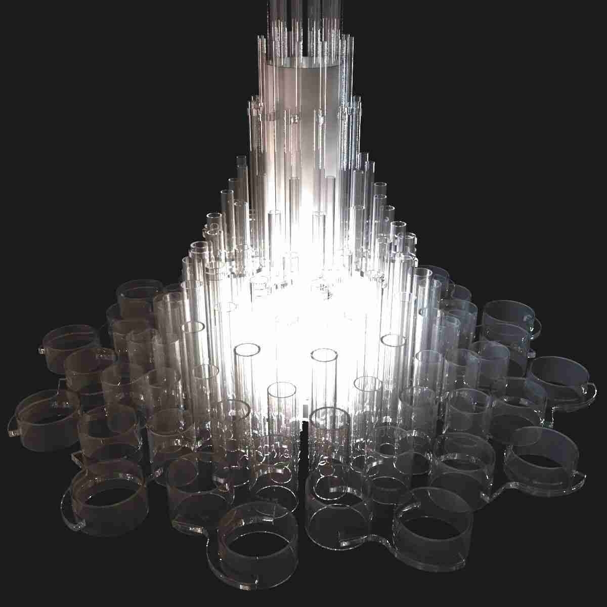 Most Up To Date Acrylic Chandelier Lighting Within Large Magic Contemporary Acrylic Chandelier For Hotel Hall  Lonwing (View 12 of 20)