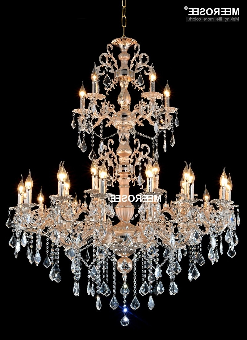 Most Up To Date Aliexpress : Buy Modern Large Crystal Chandelier Lamp Luxurious Throughout Chandelier For Restaurant (View 15 of 20)