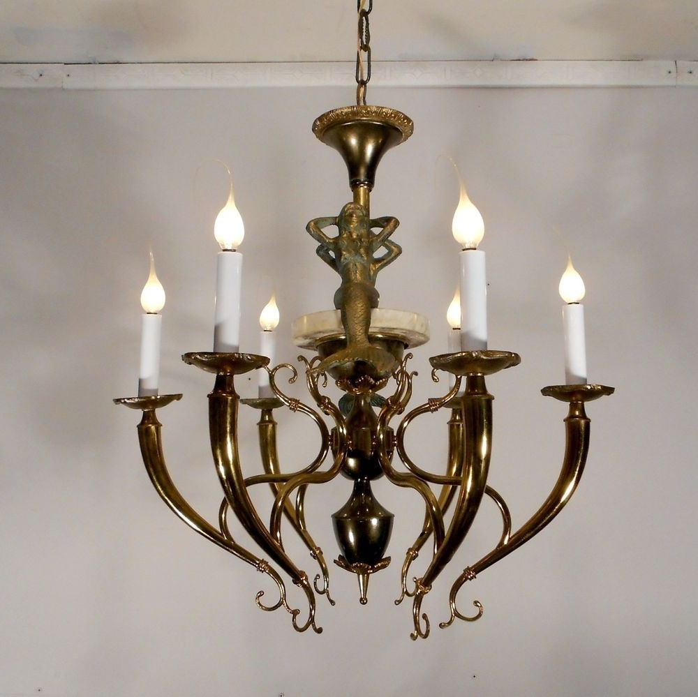 Most Up To Date Antique Style Nautical Mermaid Chandelier Lamp Ceiling Light Fixture With Antique Style Chandeliers (View 15 of 20)