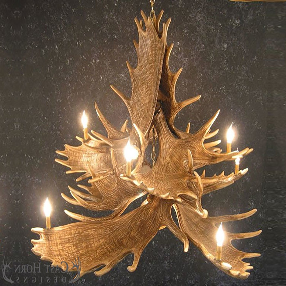 Most Up To Date Antler Chandelier Pertaining To 10 Antler Chandelier M10Dl (View 16 of 20)