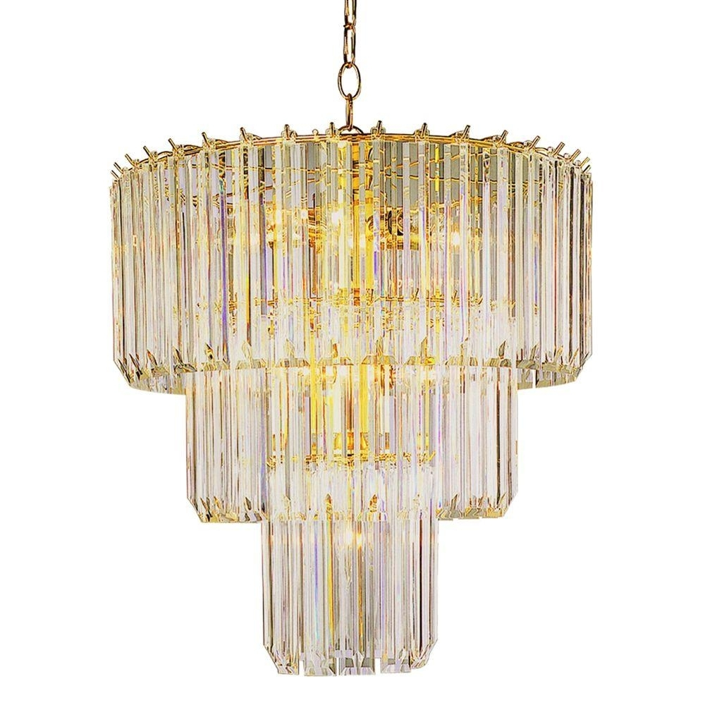 Most Up To Date Bel Air Lighting Stewart 9 Light Polished Brass Chandelier With Within Acrylic Chandelier Lighting (View 13 of 20)