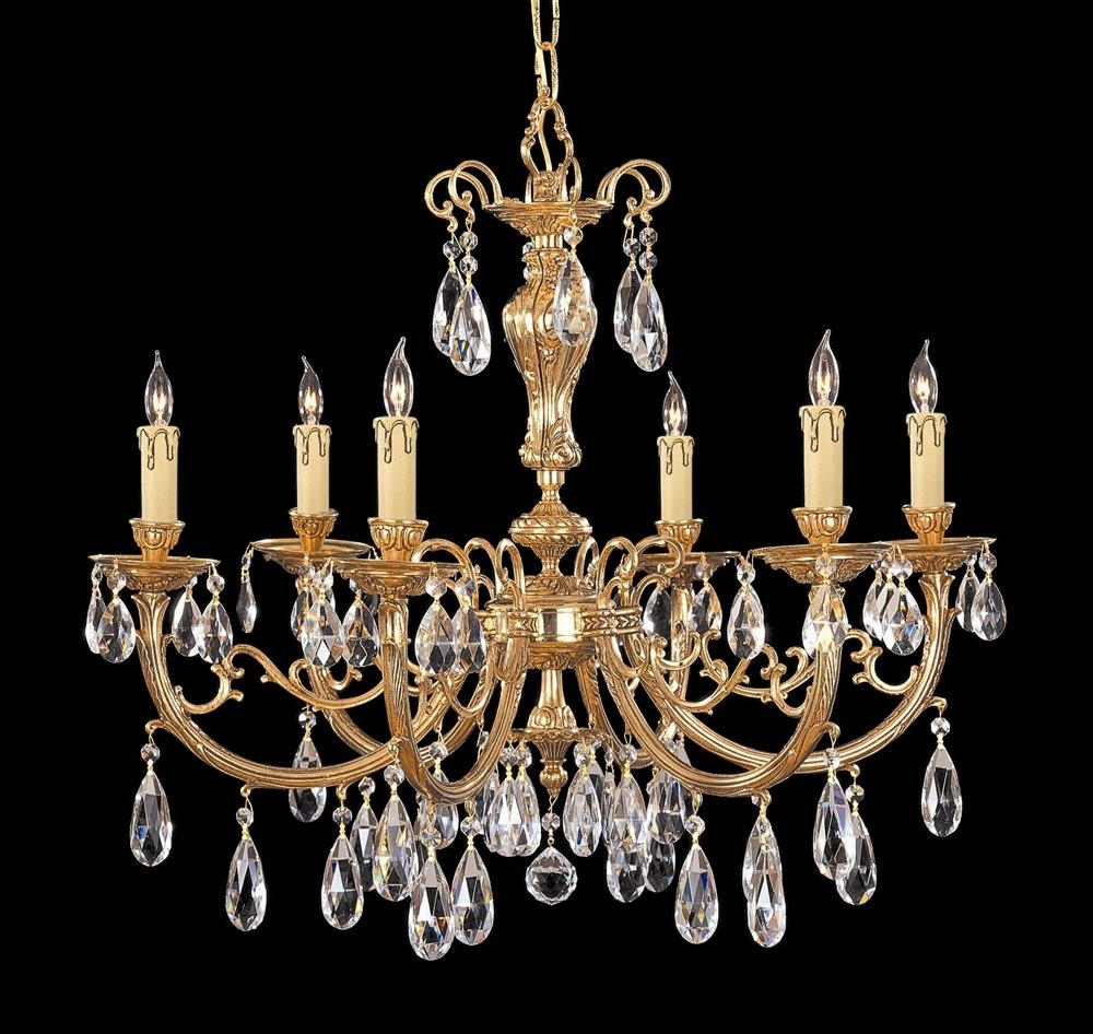 Most Up To Date Buy 5 Lights Olde Brass Crystal Chandelier For Brass And Crystal Chandeliers (View 17 of 20)