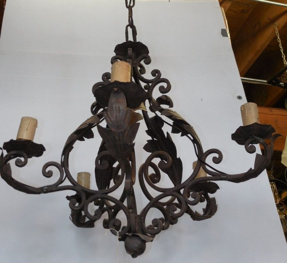 Most Up To Date Cast Iron Chandelier Intended For Chandeliers : Chandeliers Cheap Crystal Chandelier Repair Vintage (View 17 of 20)