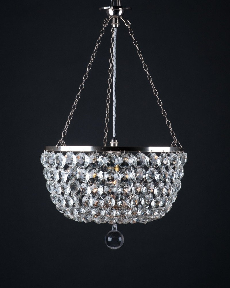 Most Up To Date Chandelier For Low Ceiling Within Low Ceiling Crystal Chandelier, Retro Lighting (View 15 of 20)