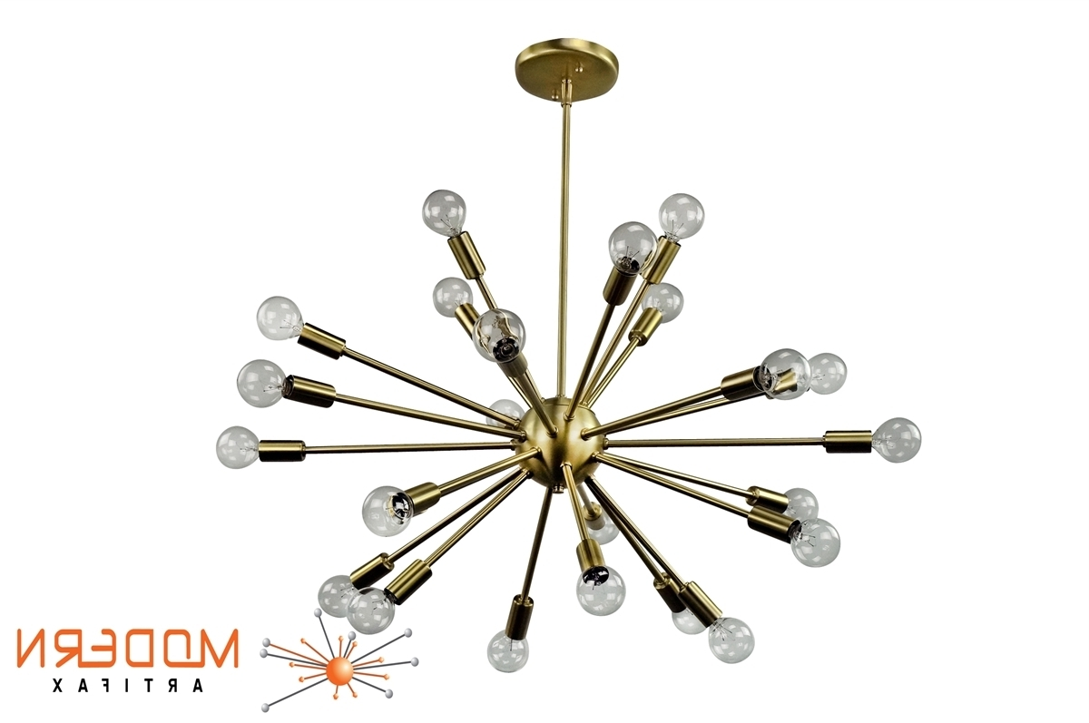 Most Up To Date Chandeliers Design : Fabulous Sb Atomic Chandelier Sputnik Satin For Atom Chandeliers (View 16 of 20)
