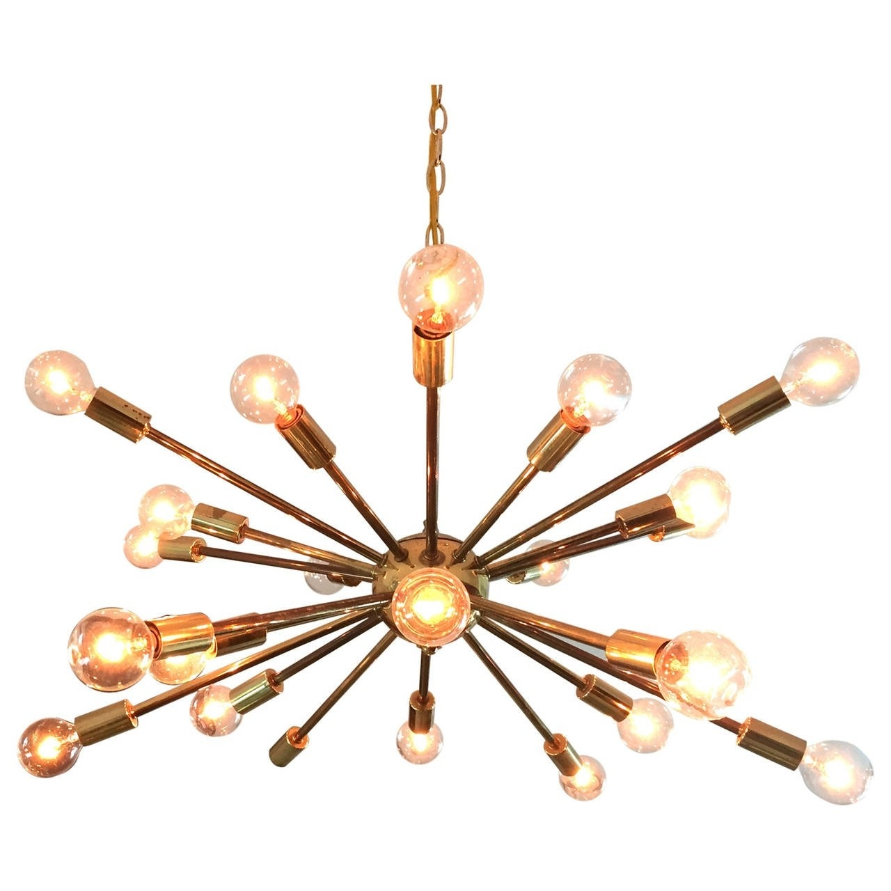 Most Up To Date Chandeliers Vintage Within Vintage American Midcentury Brass Sputnik Chandelier For Sale At 1stdibs (View 6 of 20)