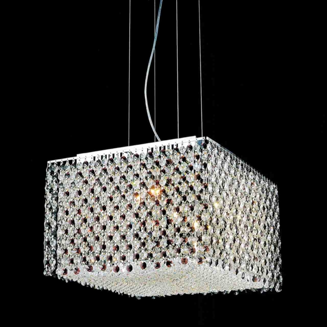 Most Up To Date Chrome Crystal Chandelier Throughout Brizzo Lighting Stores (View 16 of 20)