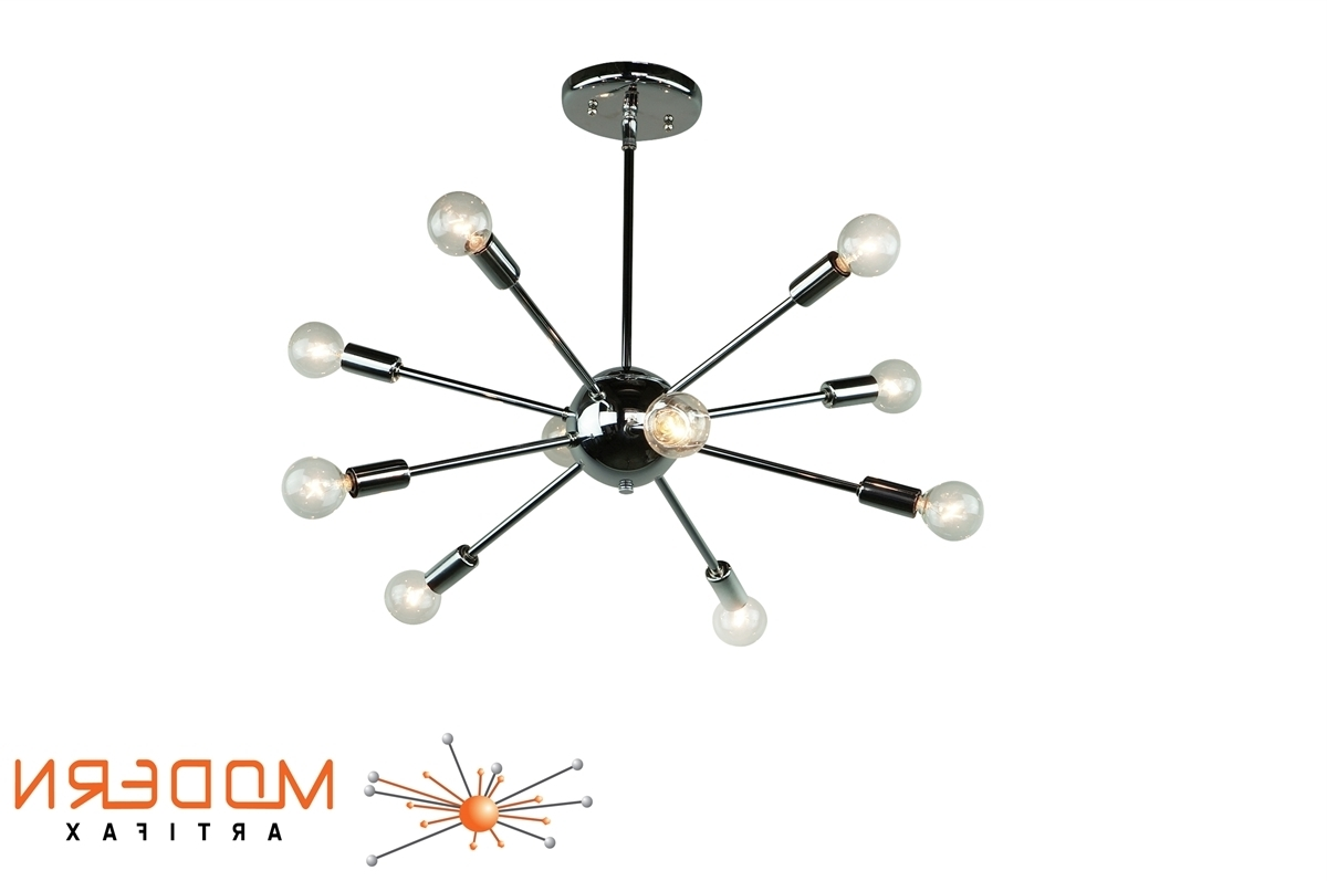 "Most Up To Date Chrome Sputnik Chandeliers Throughout Chrome Sputnik Chandelier 20"" In Diameter With 10 Arms (View 15 of 20)"