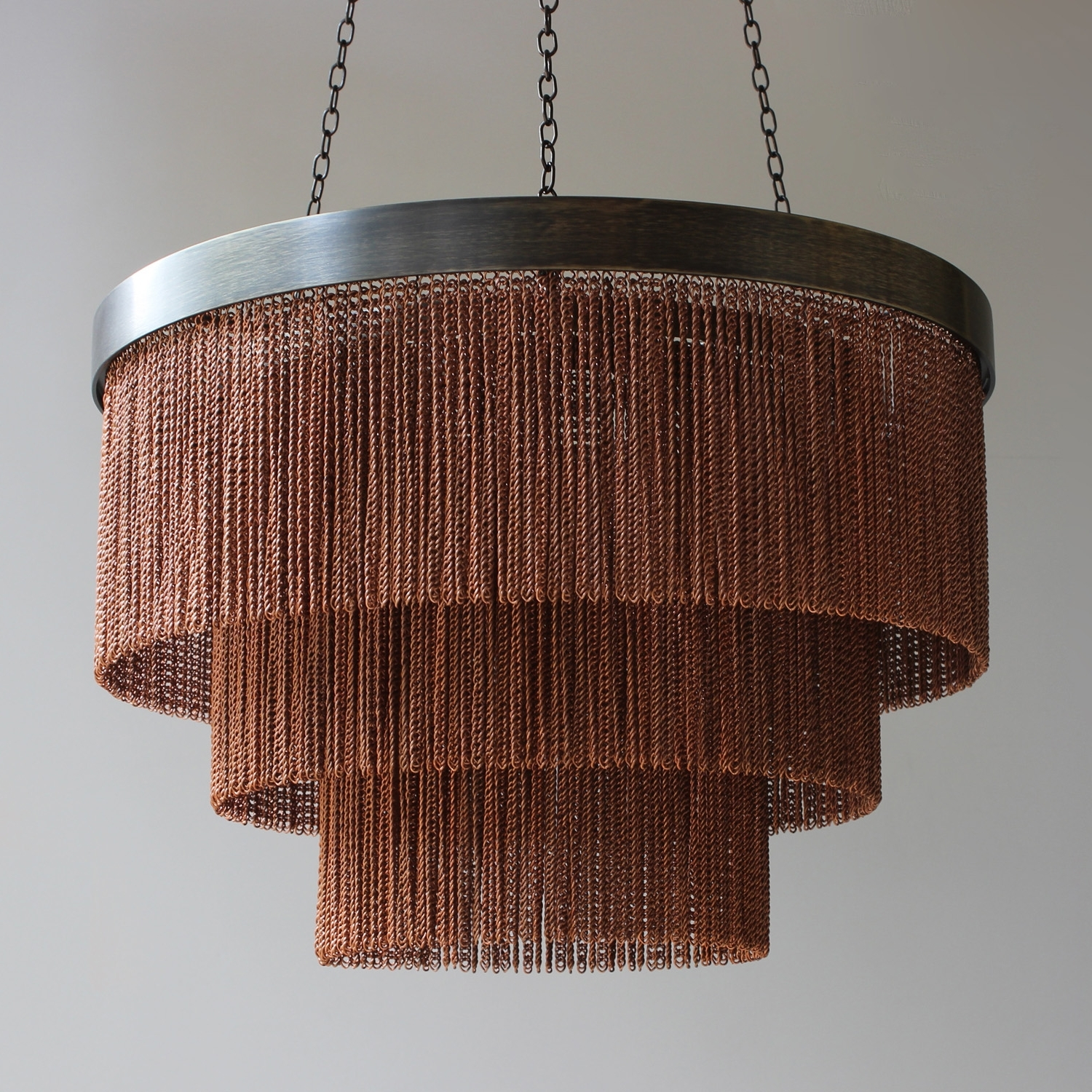 Most Up To Date Copper Chain Shallow Chandelier – Tigermoth Lighting With Copper Chandeliers (View 6 of 20)
