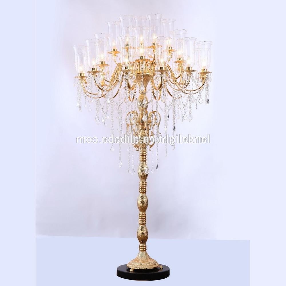Most Up To Date Crystal Chandelier Standing Lamps Regarding Antique Crystal Chandelier Floor Lamps – Buy Crystal Chandelier (View 9 of 20)