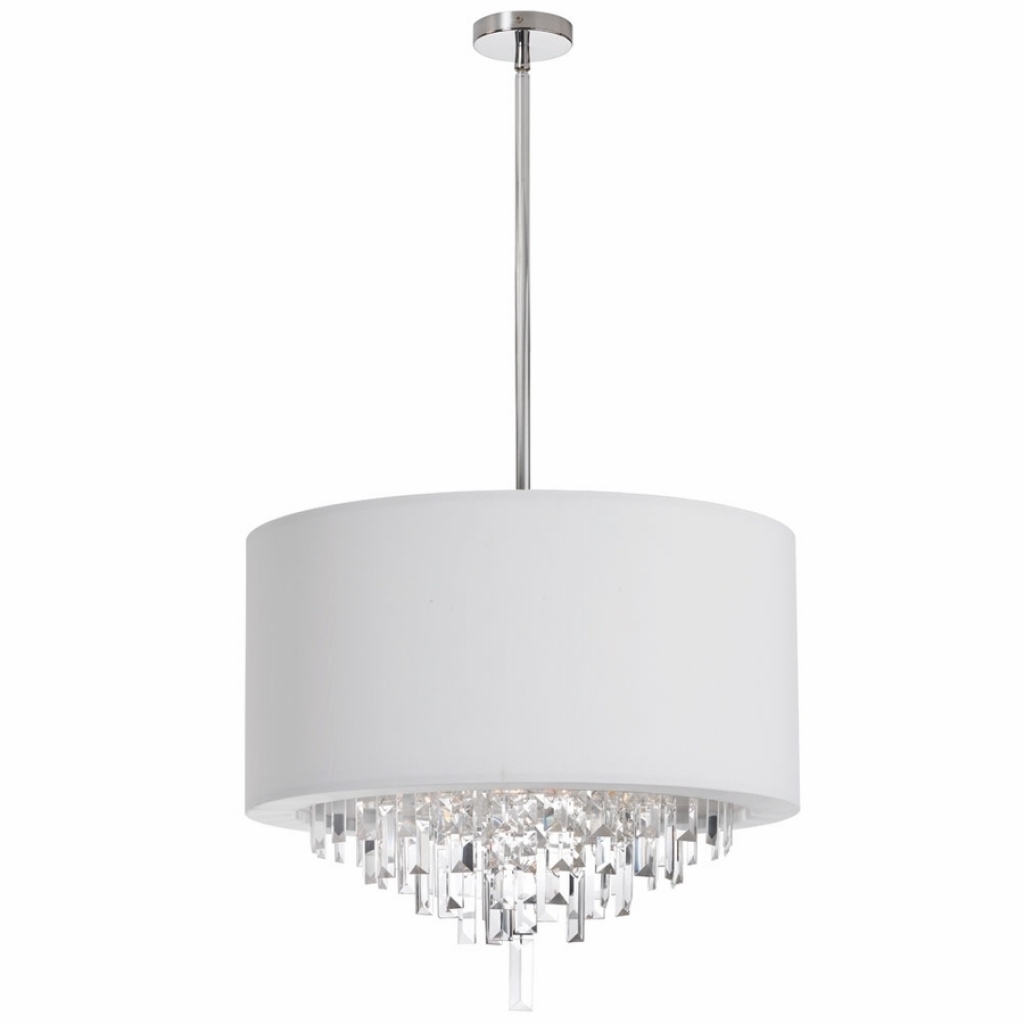 Most Up To Date Crystal Chandeliers With Shades Regarding Beautiful White Chandelier With Shades Furniture Round Modern (View 12 of 20)