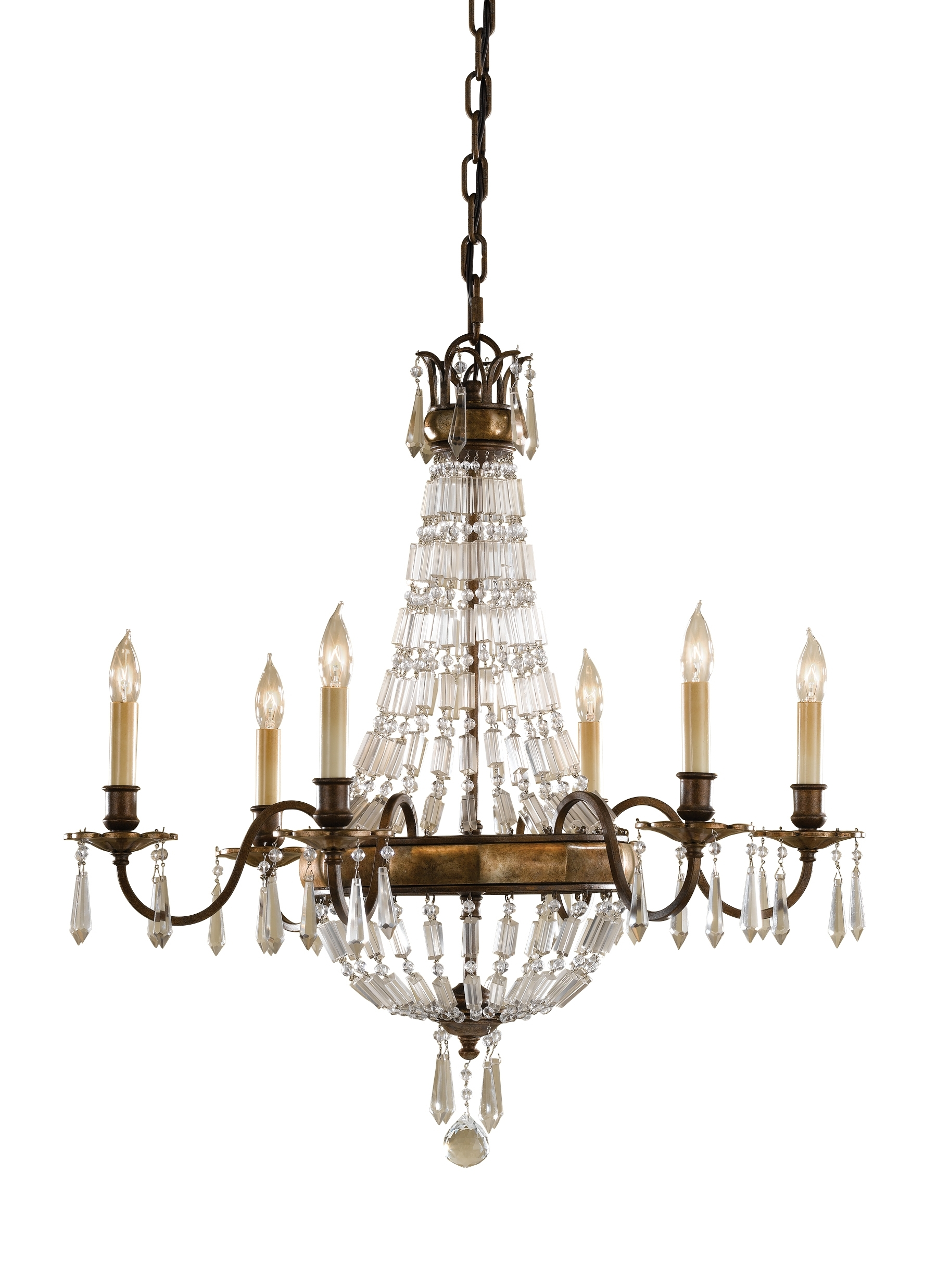 Most Up To Date Feiss Chandeliers Intended For F2461/6Obz/brb,6 – Light Single Tier Chandelier,oxidized Bronze (View 14 of 20)
