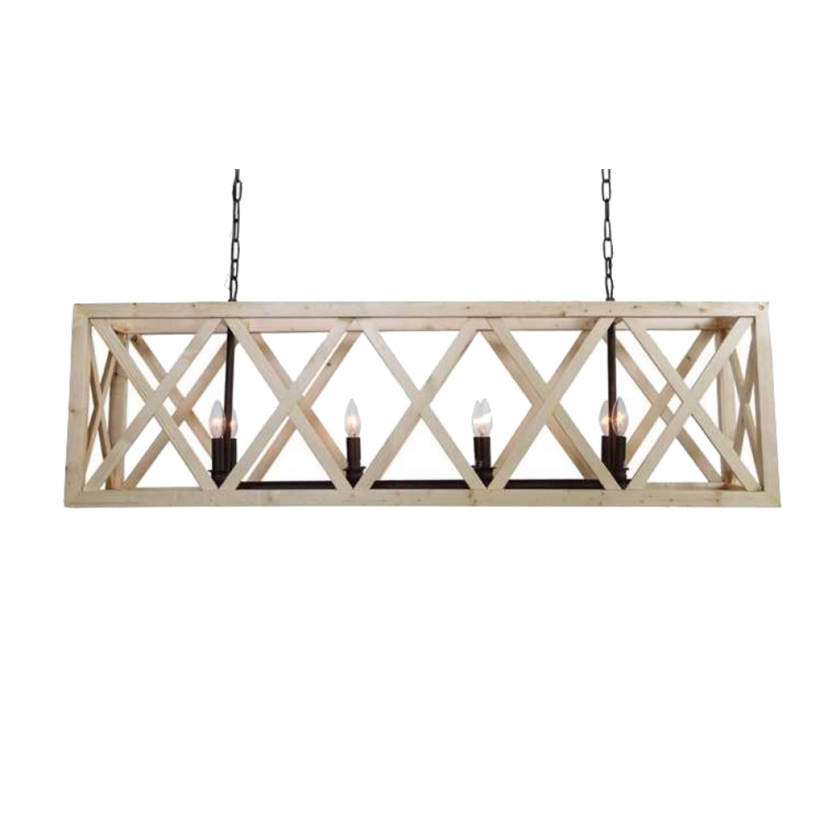 Most Up To Date French Wooden Chandelier In Large Criss Cross Wooden Rectangular Chandelier American Or French (View 16 of 20)