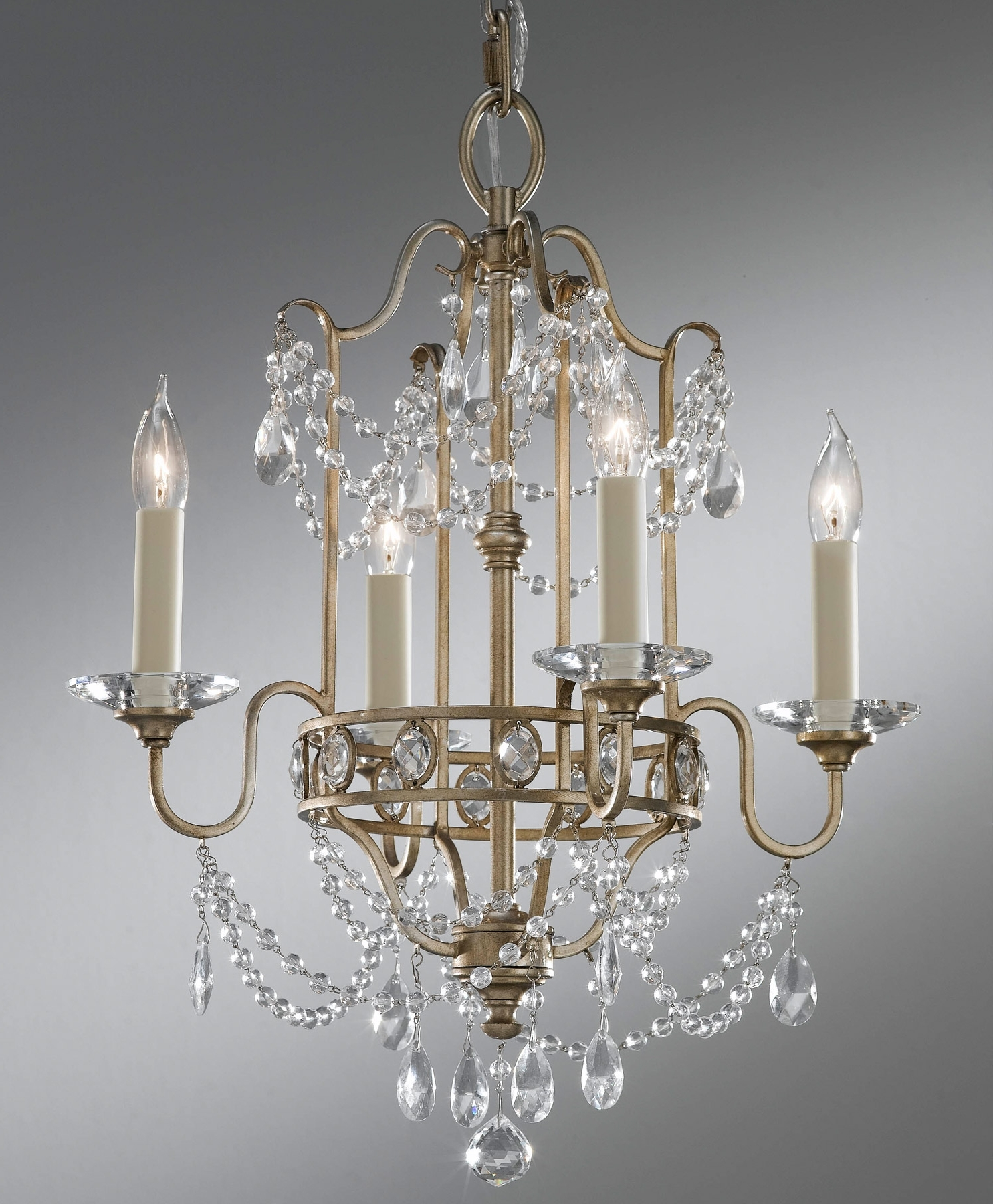 Most Up To Date Gianna Mini Chandeliers Throughout Feiss F2476/4Gs Crystal Gianna Four Light Mini Chandelier (View 6 of 20)