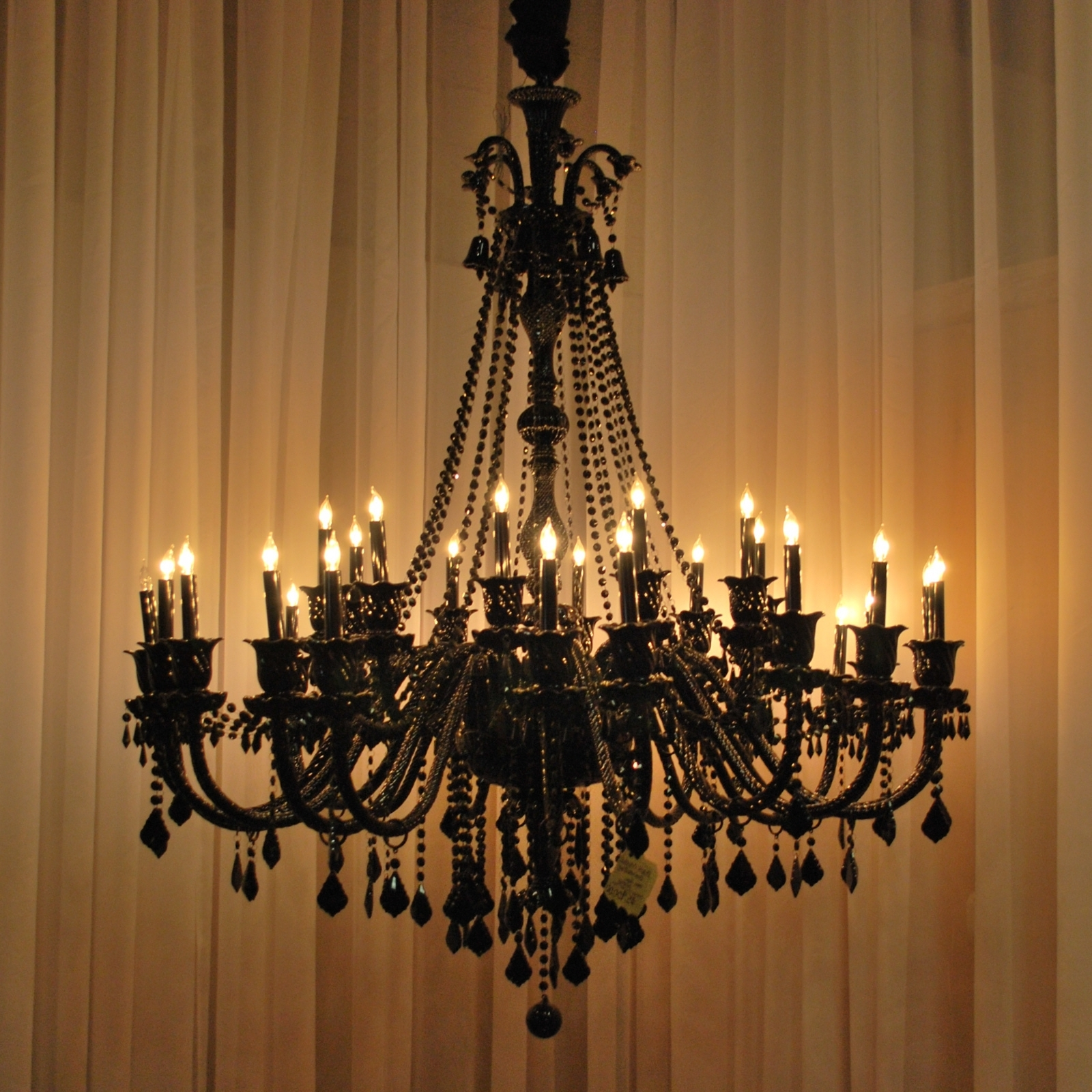 Most Up To Date How Can You Cover The Hole From An Old Chandelier? Answer: I See Two With Regard To Black Glass Chandelier (View 17 of 20)