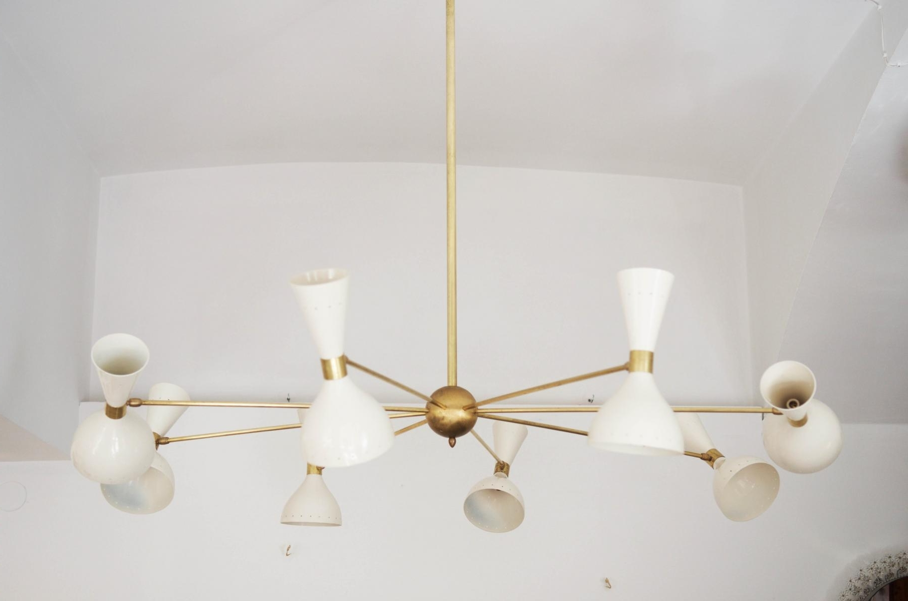 Most Up To Date Large Brass Chandelier In Mid Century Large Brass Chandelier, 1950s For Sale At Pamono (View 17 of 20)