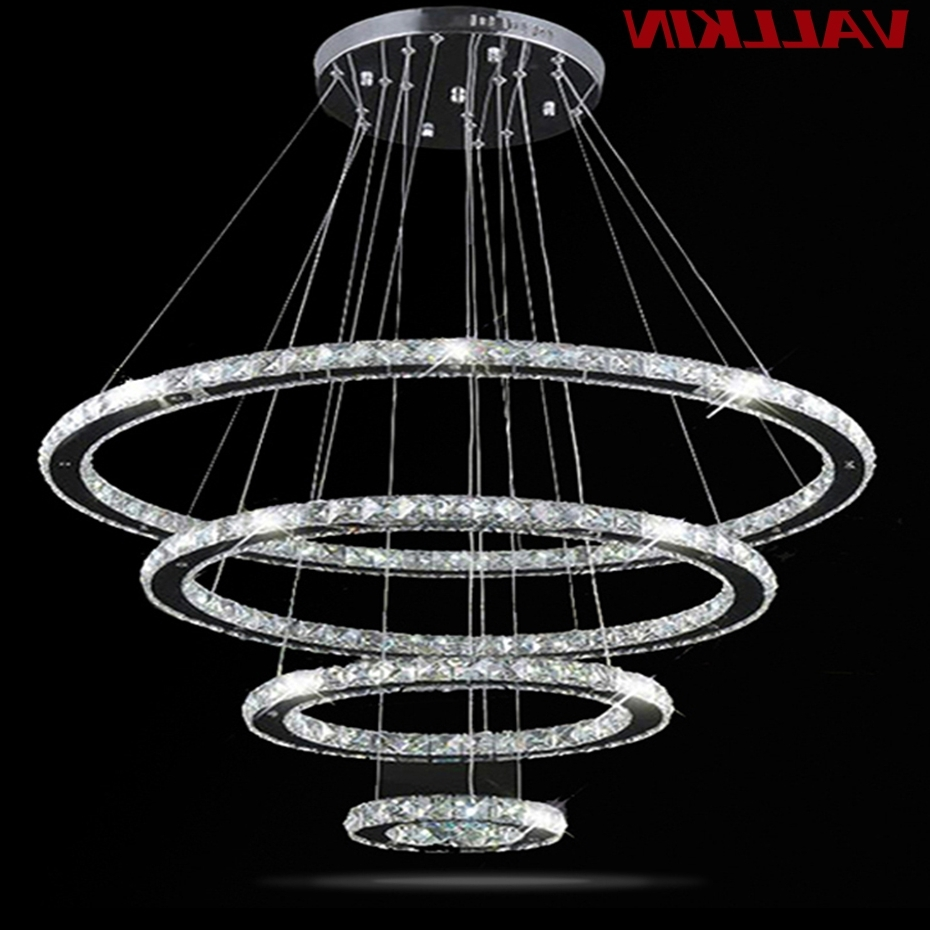 Most Up To Date Led Crystal Chandelier Light Modern Led Circle Chandeliers Lamp Regarding Modern Led Chandelier (View 18 of 20)