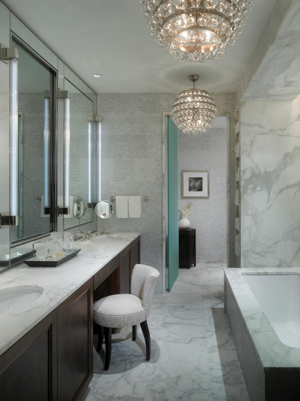 Most Up To Date Modern Bathroom Chandeliers Inside Beautiful Small Bathroom Chandelier Ideas – Find Furniture Fit For (View 16 of 20)