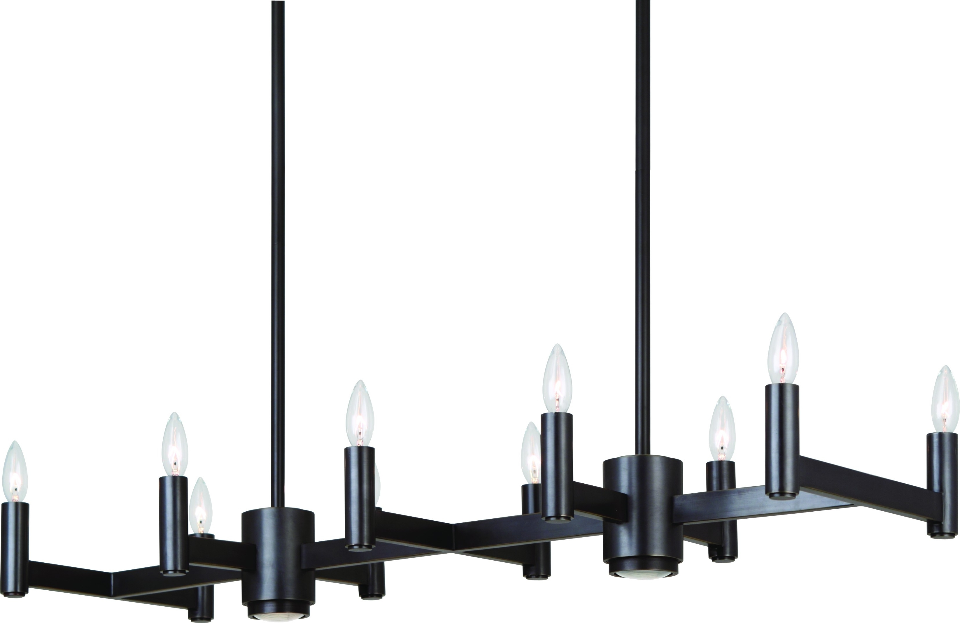 Most Up To Date Modern Wrought Iron Chandeliers Within Hanging Rectangular Modern Black Wrought Iron Chandeliers With Lamp (View 2 of 20)
