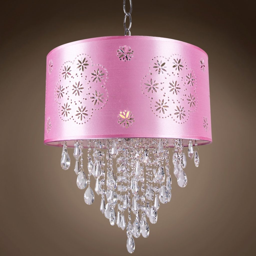 Most Up To Date Purple Crystal Chandeliers In Chandelier ~ Drum Shade Crystal Chandeliers & Drum Pendant Lighting (View 10 of 20)