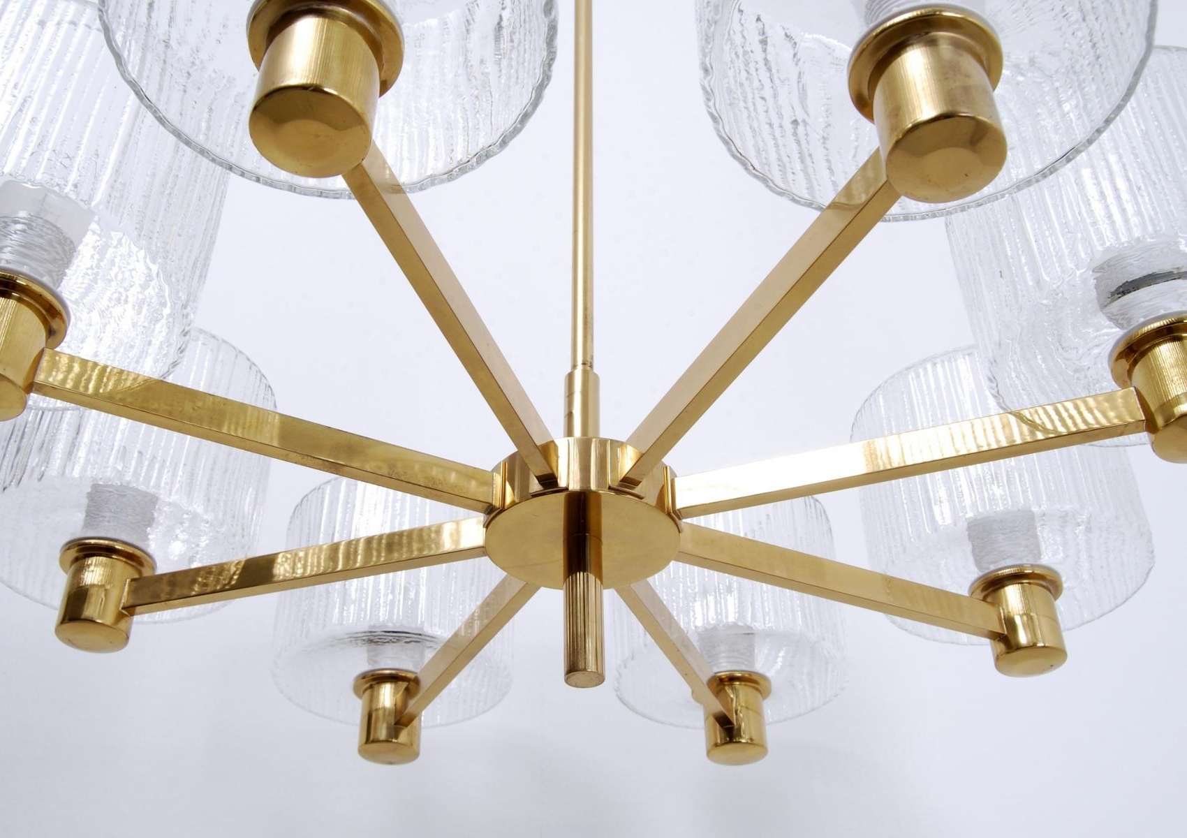 Most Up To Date Scandinavian Chandeliers Throughout Vintage Large Scandinavian Chandelier In Brass For Sale At Pamono (View 9 of 20)