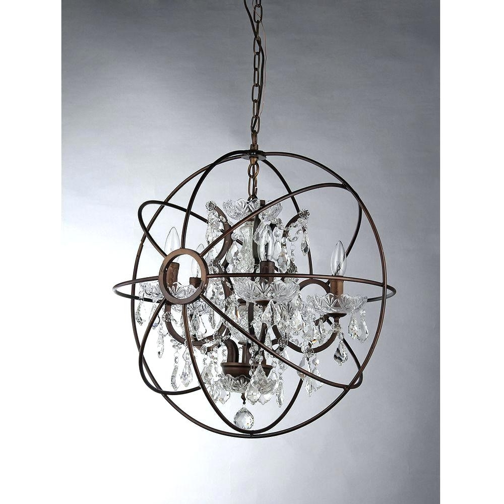 Most Up To Date Small Bronze Chandelier Within Chandeliers Design : Wonderful Mesmerizing Home Depot Chandelier (View 13 of 20)