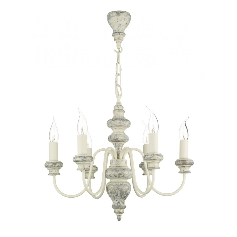 Most Up To Date Traditional Distressed Cream Chandelier Light For Rustic Settings Throughout Cream Chandelier (View 10 of 20)