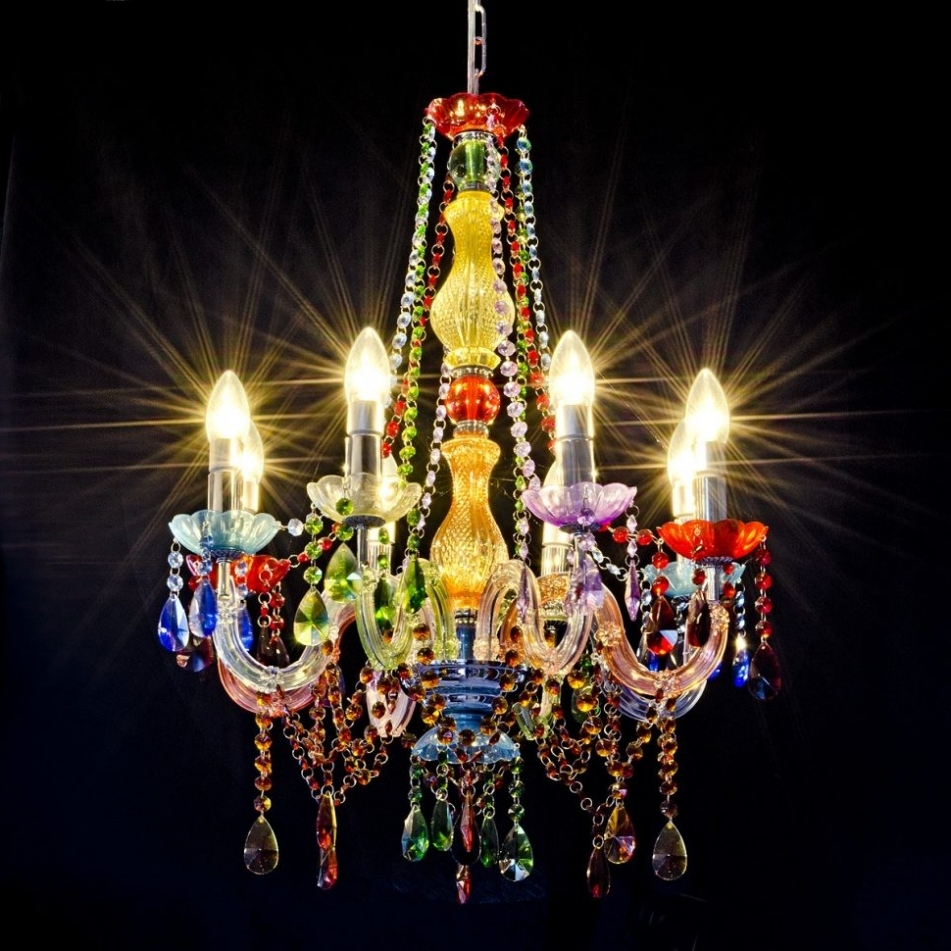 Multi Colored Gypsy Chandeliers Throughout Preferred Pendant Lights Chandelier Egyptian Perspex