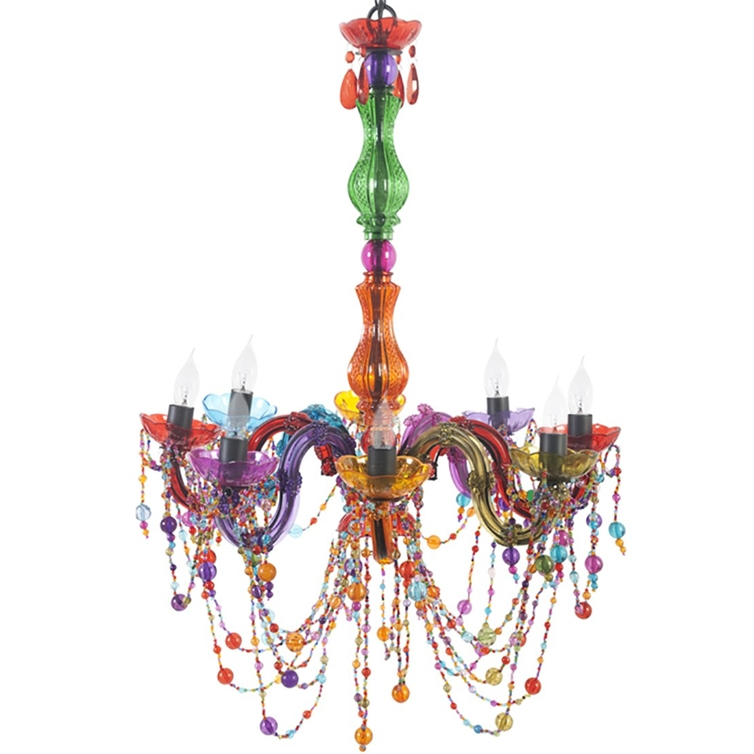 Multi Colored Gypsy Chandeliers Within Newest Multi Colour Chandelier (View 15 of 20)