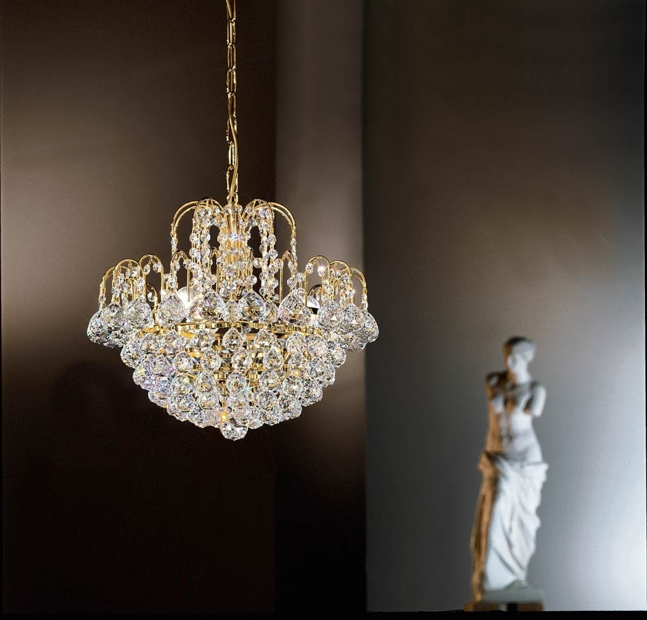 Murano And Crystal With Crystal Waterfall Chandelier (View 15 of 20)