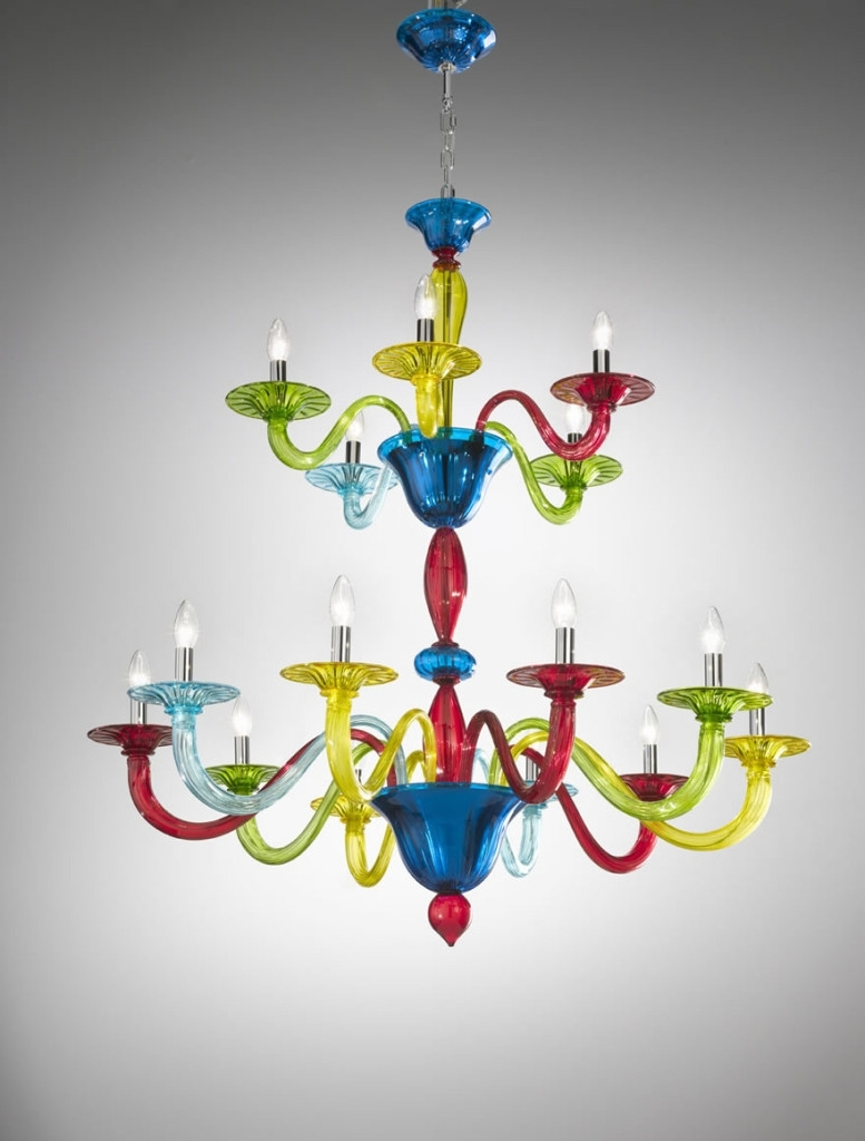 Murano Coloured Glass Chandelier – Art (View 10 of 20)