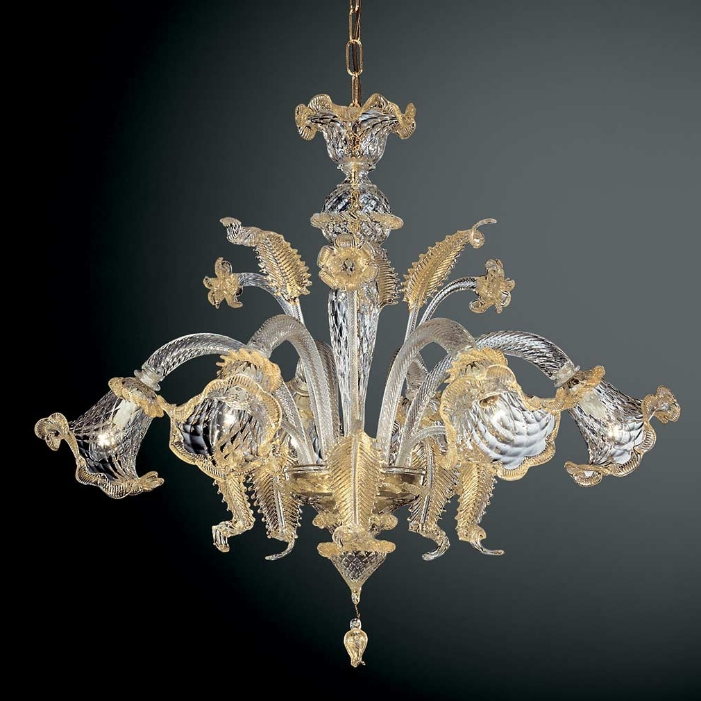 Murano Glass Chandeliers Within Most Recent Glass Chandeliers (View 14 of 20)
