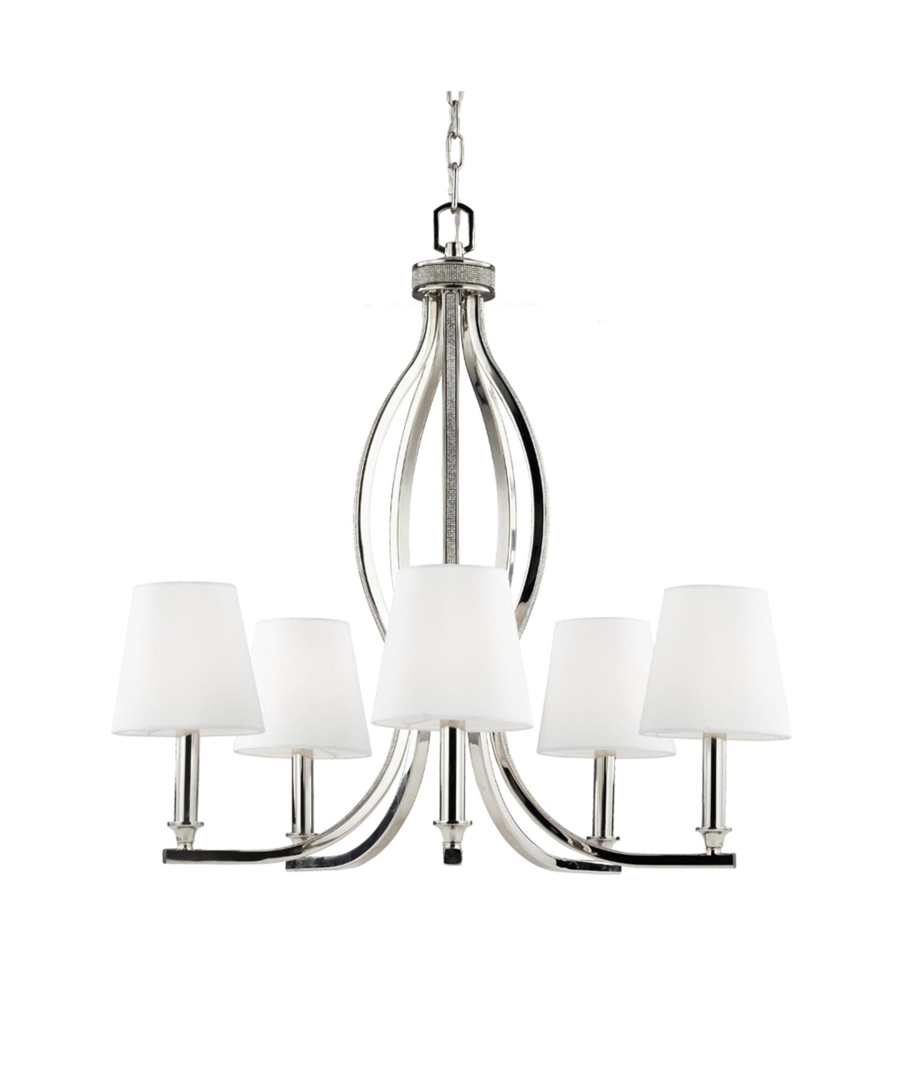 Murray Feiss F2967 5 Pave 25 Inch Wide 5 Light Chandelier (View 2 of 20)