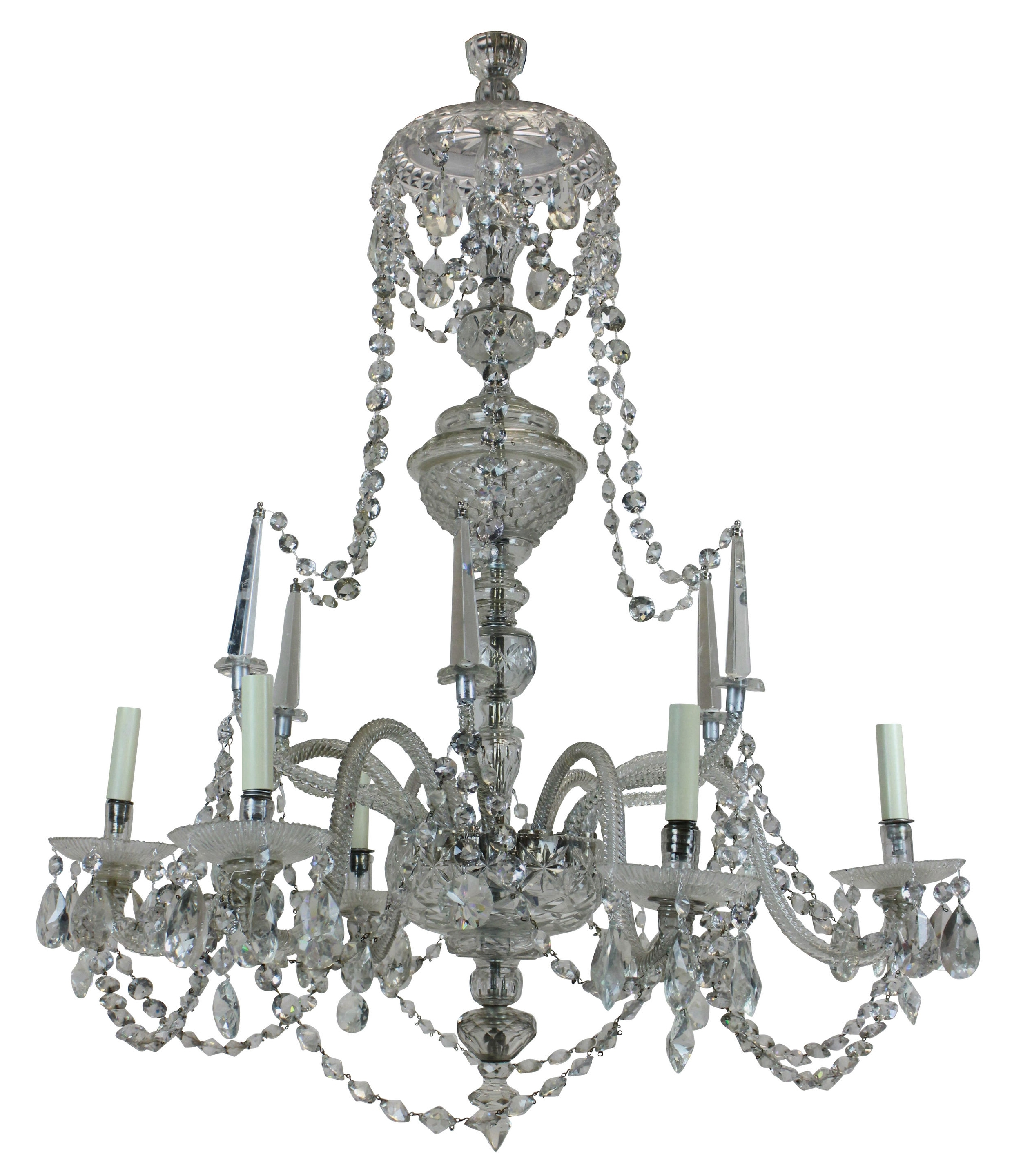 Newest A Large Georgian Cut Glass Chandelier (C. 1820 England) From Ebury With Regard To Georgian Chandelier (Gallery 18 of 20)
