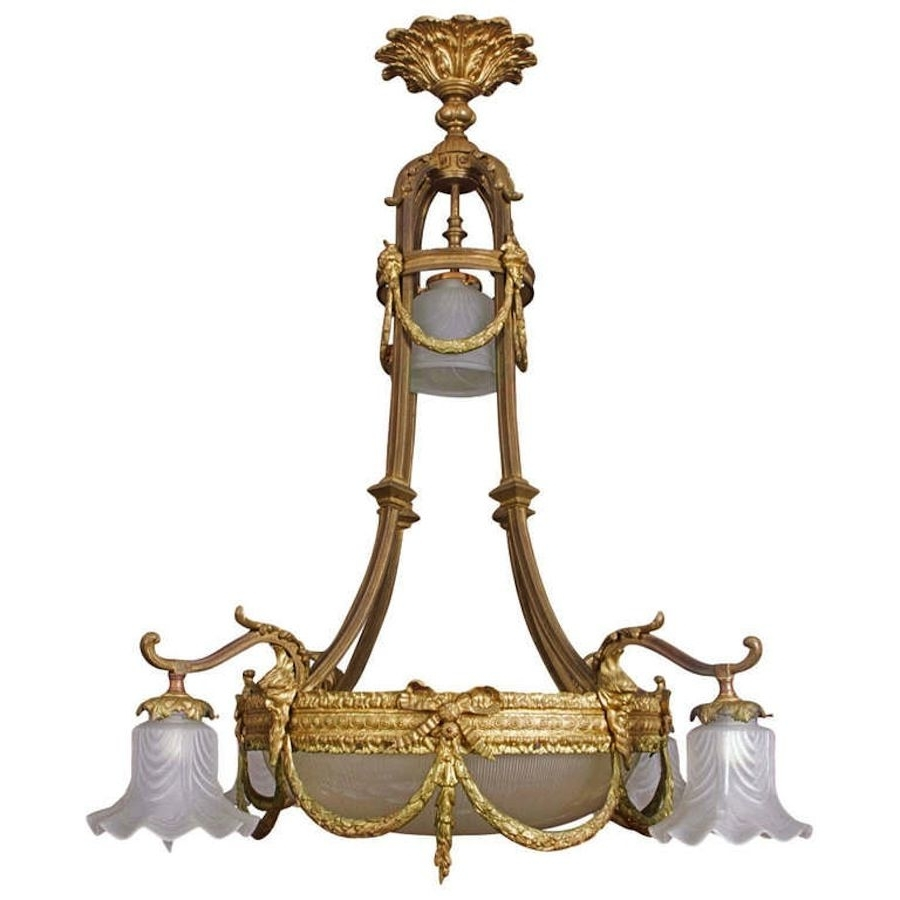 Newest Antique Style Chandeliers Regarding French Belle Epoque Louis Xvi Style Chandelier, C. 1890 (Gallery 5 of 20)