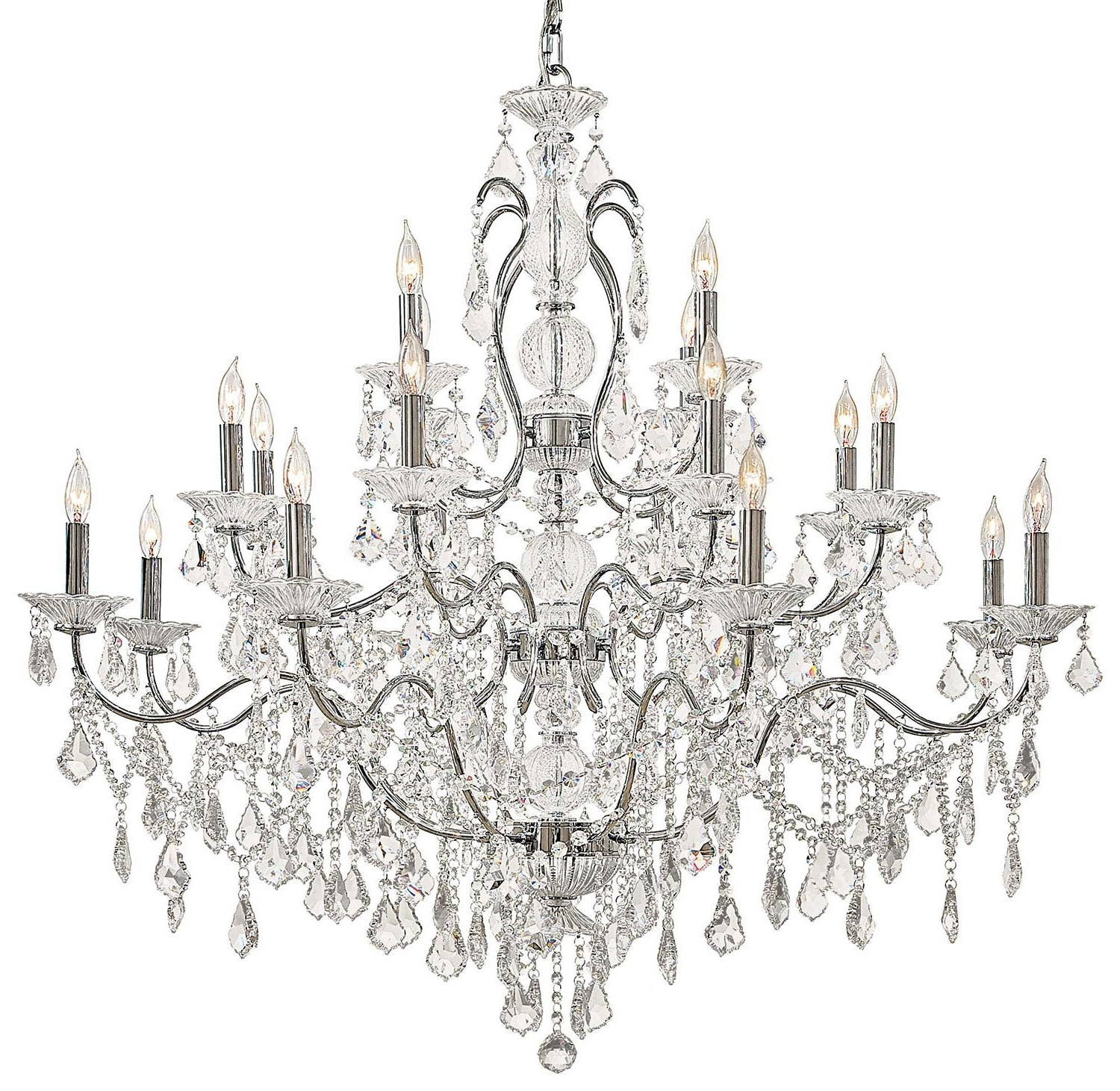 Newest Antique Style Chandeliers Within Light : Chandelier Crystals Vintage Php White Dining Crystal Room (Gallery 19 of 20)